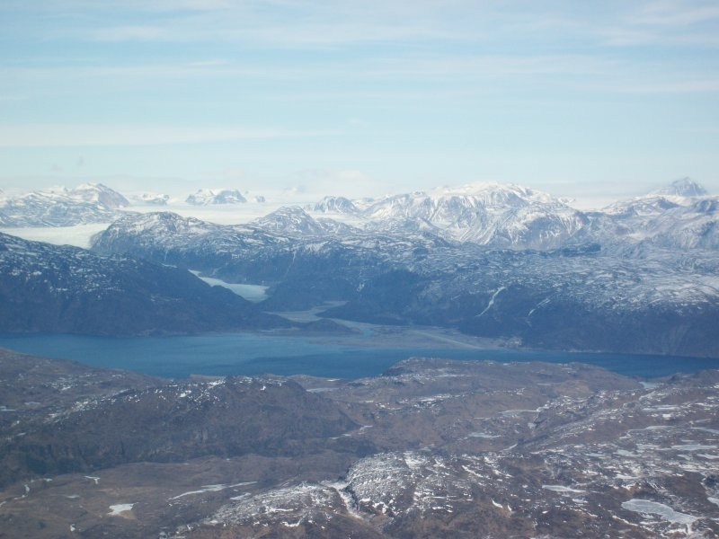 Narsarsuaq airport (BGBW) in the distance