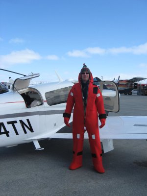 immersion suit for Atlantic ferry flight